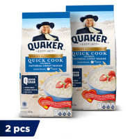 Quaker Quick Cooking Oatmeal 800 Gr - Twin Pack