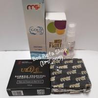 face mist gold paket+MSI Fruit Serum+MSI Sabun Bamboo Charcoal