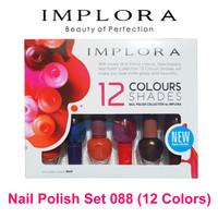 Implora 088 Nail Polish Set 12 Warna - Cat Kuku Kutek Cantik Warna War