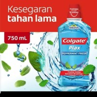 Colgate Mouthwash Plax 750ml Peppermint Fresh / Obat Kumur