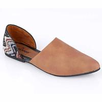 Sepatu Flat Shoes Wanita Cewek Slip On Terbaru Warna Coklat AK 834 CZ
