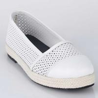 Sepatu Casual Slip On Wanita Cewek Kasual Terbaru Putih SS 030 CZ