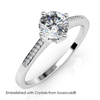 Princess Ring - Cincin Crystal Swarovski by Her Jewellery