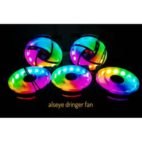 fan casing alseye d-ringer auto rainbow - fan case gaming alseye 12cm