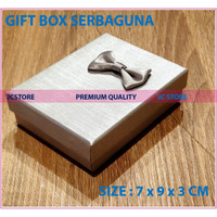 GIFT BOX MINI BEIGE COVER KUNCI KEYRING CINCIN KALUNG GIFT BOX JEWEL