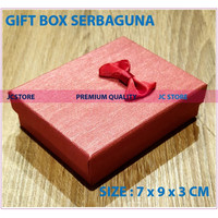 GIFT BOX MINI RED COVER KUNCI KEYRING CINCIN KALUNG GIFT BOX JEWELRY