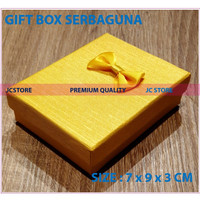 GIFT BOX MINI YELLO COVER KUNCI KEYRING CINCIN KALUNG GIFT BOX JEWELRY