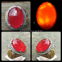 Jual CINCIN BATU AKIK RED BARON SUPER CRYSTAL HQ MODEL BATU Diskon