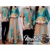 Gamis Couple Syari Batik Muslimah Pasangan Keluarga Muslim Maxi Dress