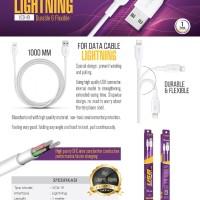 Kabel Data Lightning V-GeN VCB-19 Kabel iPhone VGEN 1 Meter