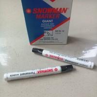 Spidol Hitam Snowman Permanent Marker Giant G-1