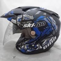 Helm Motoret Double Visor Helem Ski Kuning Set Motorara Kyt Ink Gm Wto
