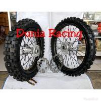 Paketan Velg Motor Klx Ring 18 21 Sepaket Velg Motor Ban Motor Luar