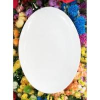 Piring keramik oval besar bisa dimicrowave cantik dan elegant