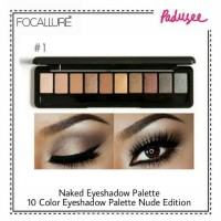 Focallure Naked Eyeshadow Palette - 10 Color Eyeshadow Palette Naked P