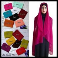 Jilbab Cardingan Polos/ Simple Dan Elegan Bahan Cerutti Terpercaya