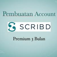 Pembuatan Account Scribd Premium 3 bulan Legal