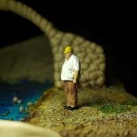 miniature 1/87 mandor pabrik macro figure photography