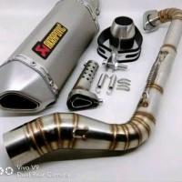 Knalpot Akrapovic HZT V2 Nmax Aerox Full System Import Lexi CB CBR150