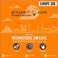 Sim Card Eropa 3 GB for 30 Days   Travel Sim Card Europe