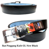 Leather Belt Jarum GL Kulit BLACK