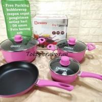 Panci set Dessini 7pcs Teflon (Pink)
