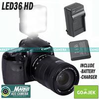 Lighting 36 LED/36LED SLR/DSLR Camera Video Light Lampu Flash External