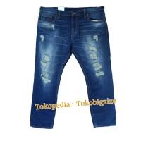EASTLORE Ripped Jeans BIGSIZE - Celana Denim Robek-Robek Jumbo SIZE