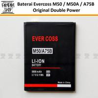 Baterai Evercoss M50 M50A A75B Double Power Original Batrai Batre Ori