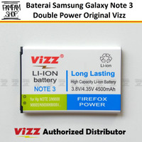 Baterai Vizz Double Power Original Samsung Galaxy Note 3 N9000 N900