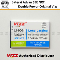 Baterai Vizz Double Power Original Advan S5E NXT Batre Batrai Ori