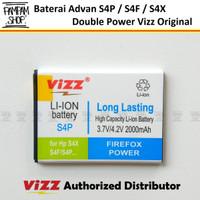 Baterai Vizz Double Power Original Advan S4P S4F S4X Batre Batrai Ori