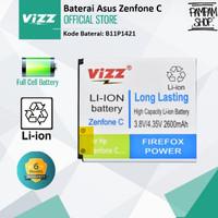 Baterai Vizz Double Power Ori Asus Zenfone C 4C ZC451CG Z007 B11P1421