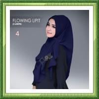 Jilbab Instan Flow Flowing Lipit Ori JFO