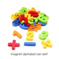 Magnet kulkas huruf dan angka - MAGNET ALPHABET SAN SERIF