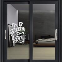 Stiker Its Coffee Clock Dinding Kaca Pintu Resto Cafe Kantin Sticker