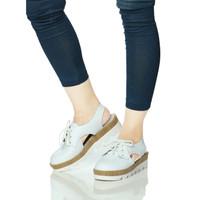Sepatu sandal wanita - Sepatu casual wanita Putih