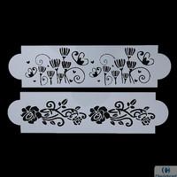 Flower Vines Cake Stencil (2pcs) #09