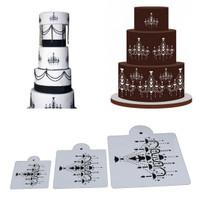 Cake Stencil - Chandelier Pattern (3pcs)