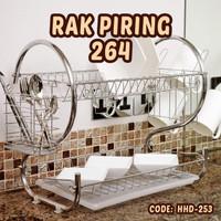 RAK PIRING STAINLESS 2 SUSUN HHD-253