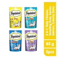 [Bundling 4 Pack] TEMPTATIONS™ Snack Kucing 4 Rasa
