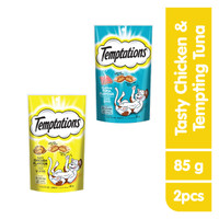 [Isi 2] TEMPTATIONS™ Snack Kucing Rasa Tempting Tuna & Chicken