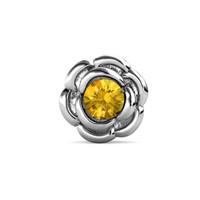 Petunia Brooch White Gold - Bros Crystals Swarovski® by Her Jewellery