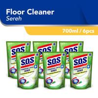 SOS Sereh Refill Pembersih Lantai [700 ML/6pcs]