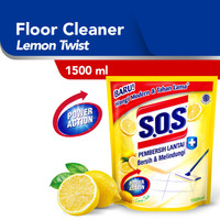 SOS Pembersih Lantai Lemon Twist Refill [1500 ML]