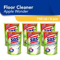 SOS Pembersih Lantai Apple Wonder Hijau Refill [750 ML/6pcs]
