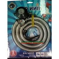 Selang Gas / Regulator Winn Gas PSFRW298M –Selang Paket Spiral Meter