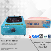 Kompor Gas 1 Tungku Winn Gas W188 – Kompor Gas 1 Tungku