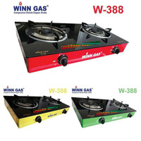 Kompor Gas 2 Tungku Winn Gas W388 – Kompor Gas 2 Tungku Glass