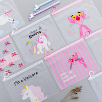 Travel Make Up Toiletries Organizer Pouch Bag Unicorn Pink Panther